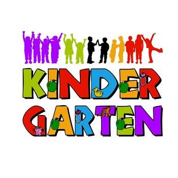 Kindergarten colorful letters & handprints
