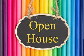 """Sign that says """"Open House"""""""